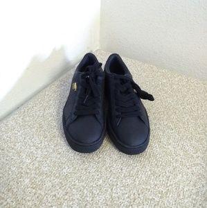 Puma Basket Black Leather Sneakers